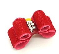 Dog Hair Accessories Spring/Fall - Red Mixed Material