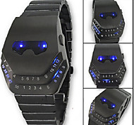 Men's Watch LED Electronic Movement Masked Men Style