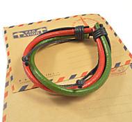 Fashion Men's Color Leather Bracelets 1pc