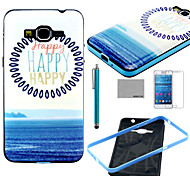 COCO FUN® Happy Sea Pattern Soft TPU Case with Screen Protector and Stylus for Samsung GALAXY Grand Prime G530