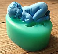 силиконовые формы торт помадка украшения Спящая младенца формы шоколада случайный цвет