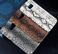alivio del pitón patrón de piel de diseño de plástico duro de la contraportada para Samsung Galaxy g9200 s6