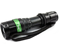 LED Flashlight Cree Q5 LED Bubles 2000 Lumens Tactical Zoomable with Self-Defense Design with Battery and Charger