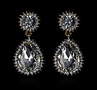 European And American Fashion New Metal Austria Crystal Earrings(Assorted Colors)