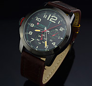 BRAND MEN TOP QUARTZ WRISTWATCHES CLASSIC LEATHER SPORTS ARMY CLOCK WATERPROOF CASUAL WATCHES