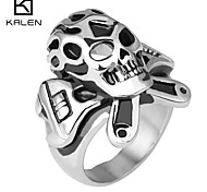 Kalen Men's Jewelry Original Classical Skull and Crossbones Ring