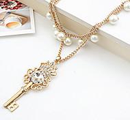 New Arrival Fashion Jewelry Rhinestone Cryatal Pearl Necklace