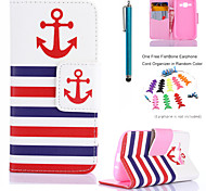 EHAPPY®Pattern PU Leather Flip Stand Case with Stylus and Earphone Cord Organizer Fishbone for Samsung Galaxy J1