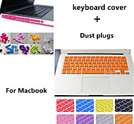 High Quality Solid Color TPU Keyboard Cover and Dust plugs for Macbook Pro 13.3 inch (Assorted Colors)