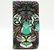 Tigermuster der Innen gemalt Karten Fall für Samsung Galaxy Note 4