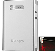 Atongm L2 Bluetooth Laser Virtual Keyboard with 5200mAh Portable Mobile Power Bank (Silver)