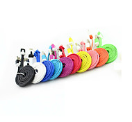 3FT/1M Colorful Noodle Flat Cable Micro USB Data Charger Cable for Samsung S3/S4 LG HTC Huawei