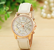 12 Colors New Fashion Leather Strap Watch Geneva Watches Women Dress Watches Quartz Wristwatch Watches Relojes