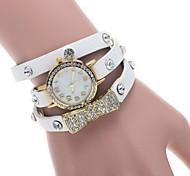 Women's Round Dial Watch Leather Brand Quartz Wrist Watch