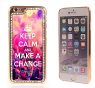 Keep Calm and Make A Change Design Luxury Hybrid Bling Glitter Sparkle With Crystal Rhinestone Case for iPhone 6