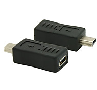 Mini USB 2.0 Male to Female Converter Connector Plug Adapter