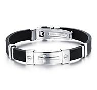 Cross Fashion and personality best Mr Titanium steel silicone bracelets both men and women
