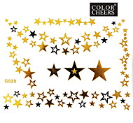 1Pc Gold and Black Necklace Tattoo Sticker 15x11.5CM