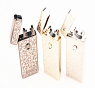 Personality Printing Windproof USB Charging Electric Pulse Arc Lighter Electrons Gold Silver Grey Assorted Colors