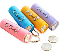 Portable Dual Side Round Plastic Coin Holder Storage Tubes (Random Color)