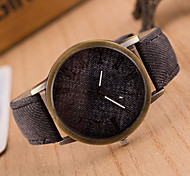 Women European Style Fashion New Imitation Canvas Jeans Leather Watch