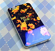 Laser light Chinese rose   Pattern Plastic Hard Back Cover for iPhone 6Plus