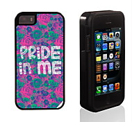 Pride in Me Pattern 2 in 1 Hybrid Armor Full-Body Dual Layer Shock-Protector Slim Case for iPhone 5/5S