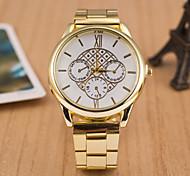 relojes de los hombres de la versión europea del reloj de acero de cuarzo suizo ojo caliente tres aleación ligera