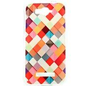 scatola di colore del modello trasparente cassa del telefono di tpu sottile per Alcatel One Touch pop c7