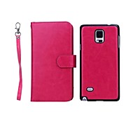 High-Grade Genuine Leather Mobile Phone Holster Full Body Case Shatter-Resistant Case for Samsung Galaxy  NOTE 4