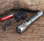 2000lm  Cree XM-L T6 LED Flashlight Torch Zoomable(1x18650 Battery + Charger)