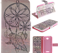 Only Beautiful Windbell Design PU Leather Stand Case with Card Slot for  Sony E4