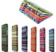 New Stylish Manual Fabric Woven Ethnic Trend Coating TPU Soft Back Cover Case for iPhone 6(Assorted Colors)