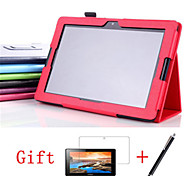 "Folding Folio Leather Case Stand Case Cover For Lenovo A10-70 A7600 10.1"" Tablet+ Free Screen Protective + Stylus Pen"