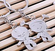 alliage de zinc garçon et une fille porte-clés en forme (2 ps)