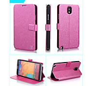 Smooth Silk Pattern with Card Bag PU Full Body Case for Samsung Galaxy Note 3 (Assorted Color)