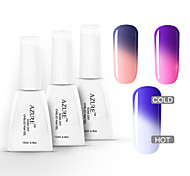 Azure 3 Pcs/Lot Soak Off UV Nail Gel Polish Manicure Changing with Temperature Nail Gel(12ml,#13+#14+#15)