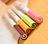 Jam Pattern Black Ink Gel Pen(Random Colors 1PCS)