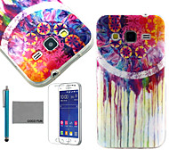 COCO FUN® Colorful Flower Pattern PU Leather Case with Screen Protector and Stylus for Samsung Galaxy Core Prime G360