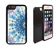fiore blu modello 2 in 1 hybrid armatura di tutto il corpo a doppio strato urti protettore caso sottile per iPhone 6 più