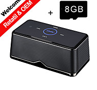 8GB Micro SD Card and Pindo W600 NFC Portable Stereo Bluetooth Speaker Play Music BT Micro SD for Smartphone sound box