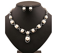 Z&X® Alloy Europe Simple Pearl Jewelry Set Party/Daily 1set(Including Necklaces/Earrings)