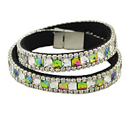 New Fashion Besutiful Colored Rhinestone Filled Magnetic Bracelet