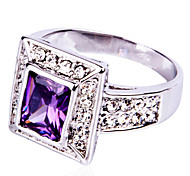 Size 10 High Quality  Women Purple Sapphire Rings 10KT White Gold Filled Ring