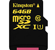 Kingston 64GB Clase 10 / UHS-I U1 MicroSD/MicroSDHC/MicroSDXC/TFMax Read Speed90 (MB/S)Max Write Speed45 (MB/S)