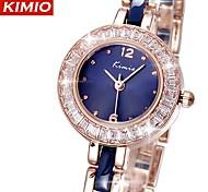 Women's KIMIO Watch Brand Luxury Shiny Crystal Rose Gold Watches Women Fashion Water-Resistant Wristwatch