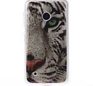 White Tiger Pattern TPU Soft Case for Nokia Lumia N530