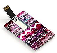 64gb usb flash drive cartão design colorido