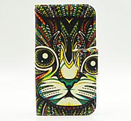motif léopard pu leahter cas de tout le corps avec fente pour carte pour Samsung Galaxy J5