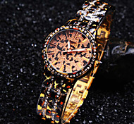 Ladies' New Fashion Leopard Luminous Hands Diamond Round Dial Exquisite Luxury Quartz Bangle Watch